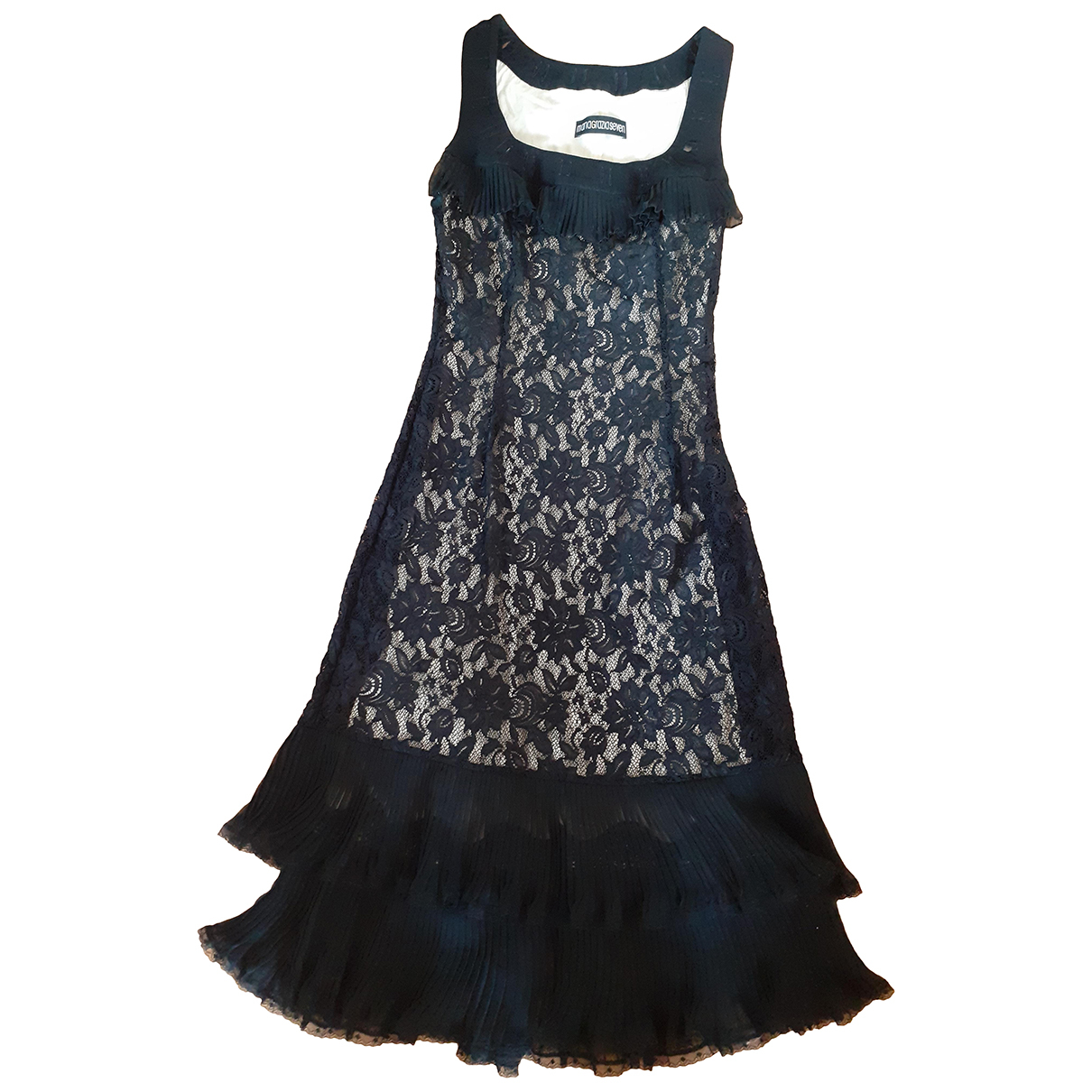Maria Grazia Severi \N Kleid in  Schwarz Seide