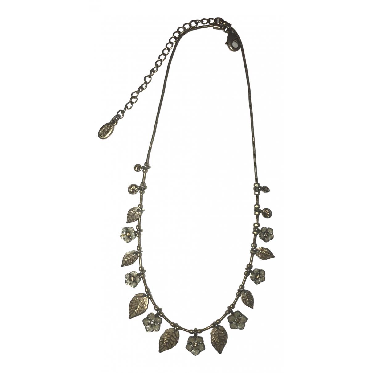 - Collier Motifs Floraux pour femme en acier - dore