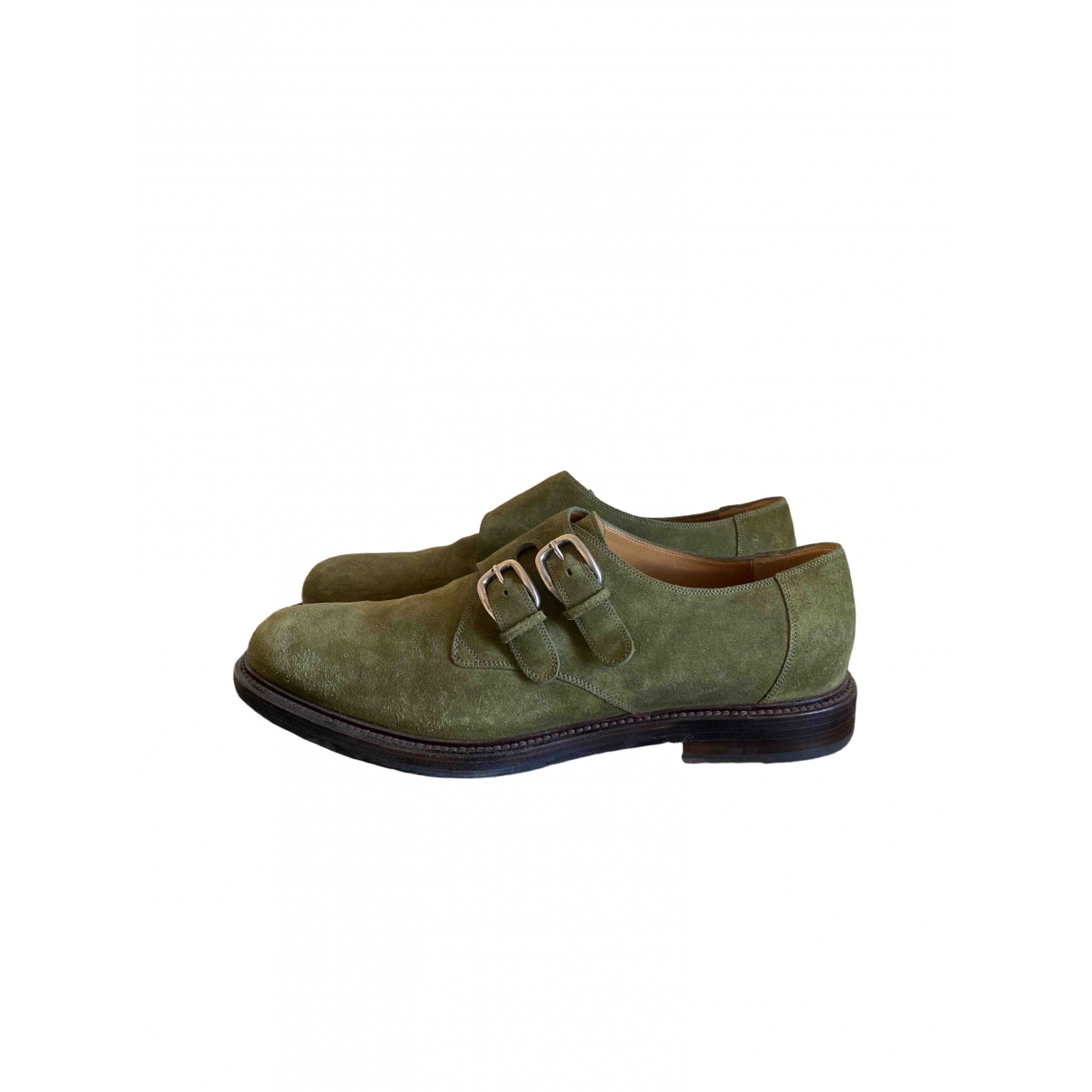 Gucci \N Green Suede Lace ups for Men 11 UK