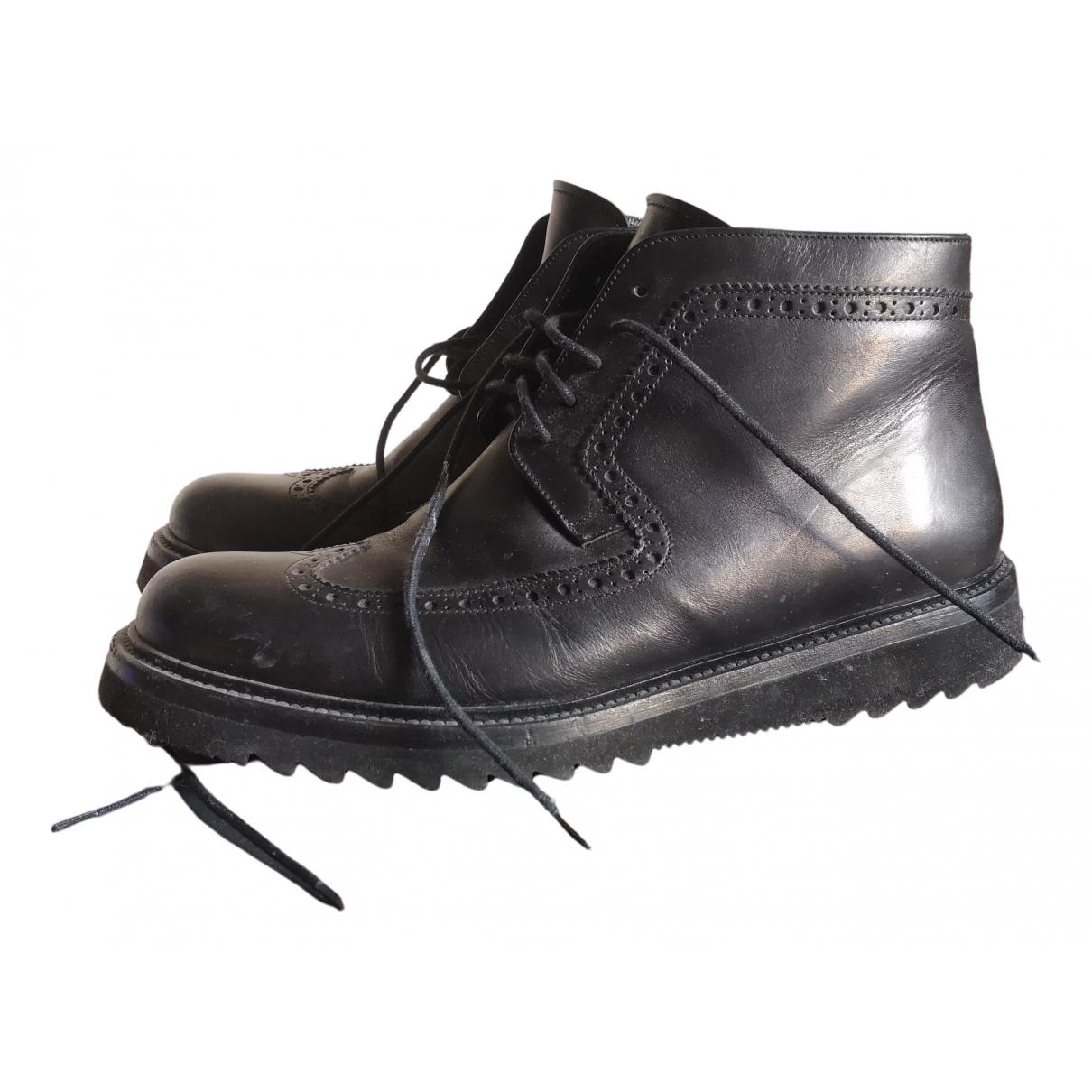 Dior Homme N Black Leather Boots for Men 41.5 EU