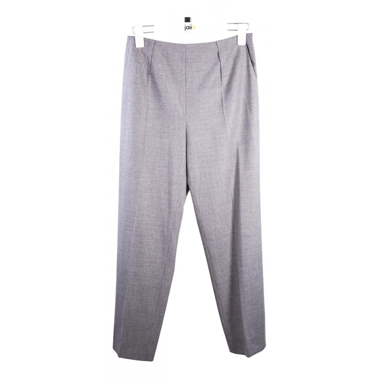 Paule Ka N Grey Wool Trousers for Women 36 FR