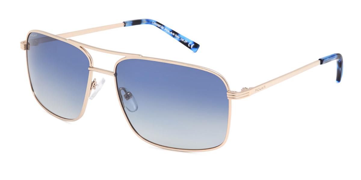 Polar PL 672 Polarized 02/a Men's Sunglasses Gold Size 61