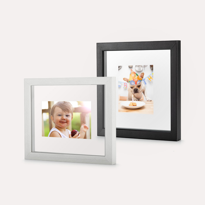 Custom Floating Frame - Black w/ White Backer 5x7 Print, Home Décor