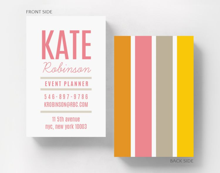 Fanfare Business Card Credit Card Size - Business Cards
