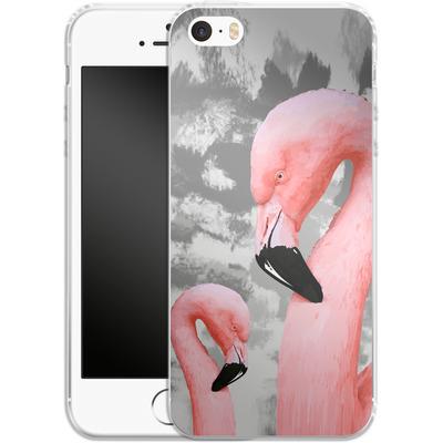 Apple iPhone 5 Silikon Handyhuelle - Flamingo Grey von Mukta Lata Barua
