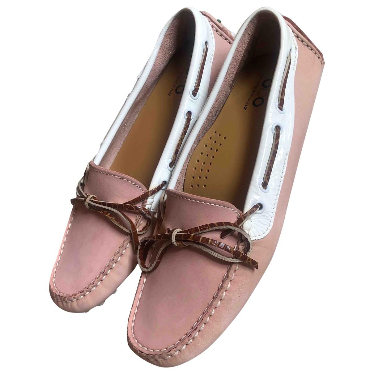 Serafini \N Pink Leather Flats for Women 39 EU