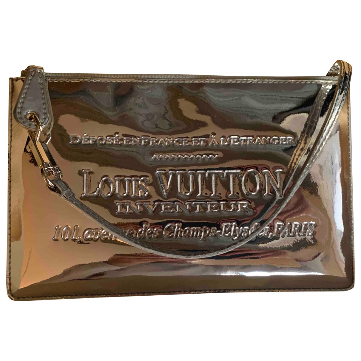 Louis Vuitton \N Clutch in  Silber Lackleder