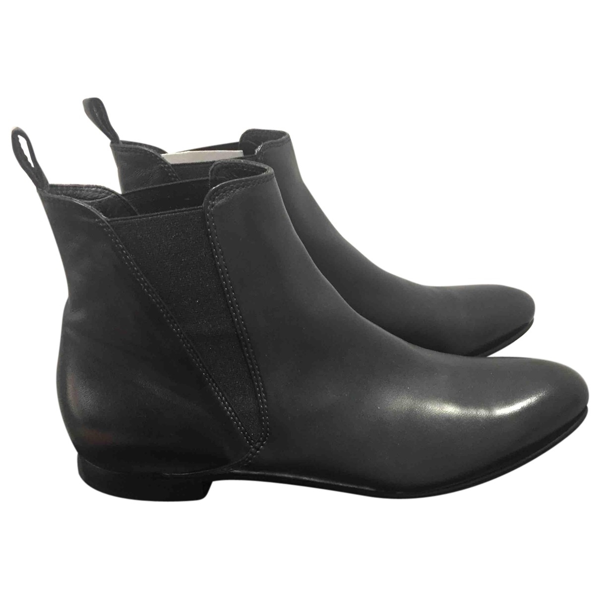 Non Signé / Unsigned \N Brown Leather Ankle boots for Women 40 EU