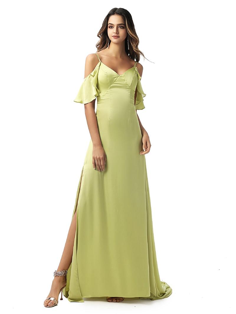 Ericdress A-Line Spaghetti Straps Evening Dress 2020