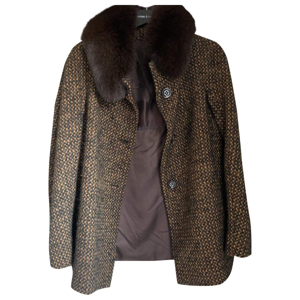 Max Mara \N Maentel in  Braun Wolle