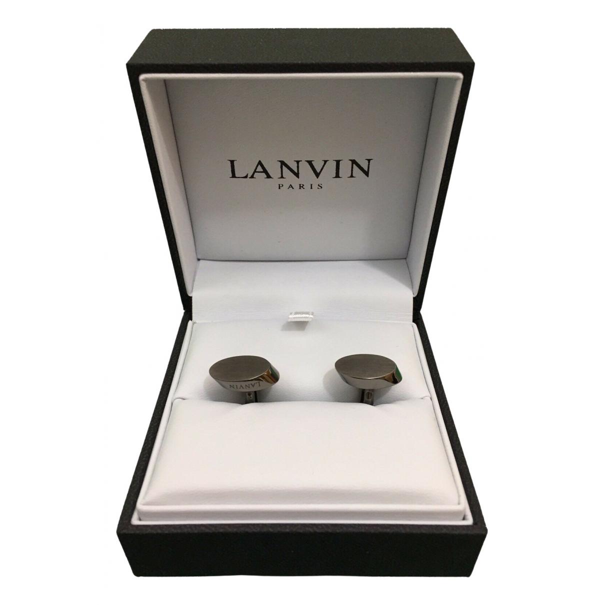 Lanvin \N Manschettenknopfe in  Silber Metall