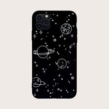 1pc Galaxy Print iPhone Case
