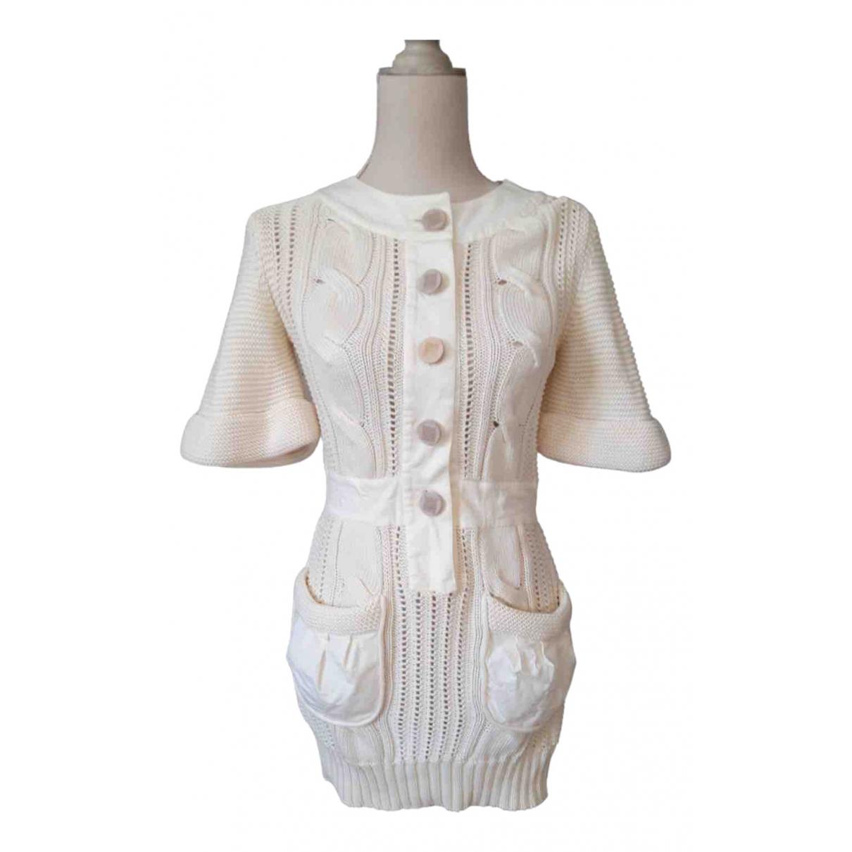 Fendi \N Kleid in  Weiss Baumwolle