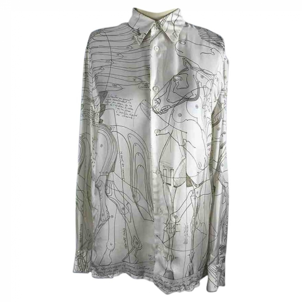 Hermès \N Ecru Silk  top for Women 38 FR