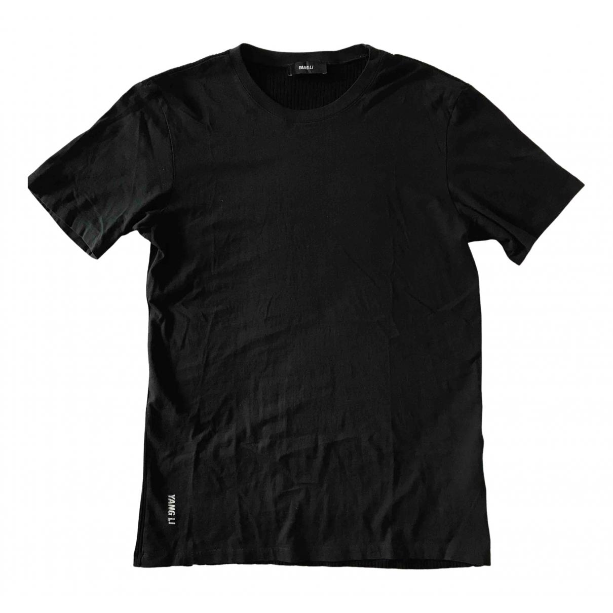 Yang Li - Tee shirts   pour homme en coton - noir
