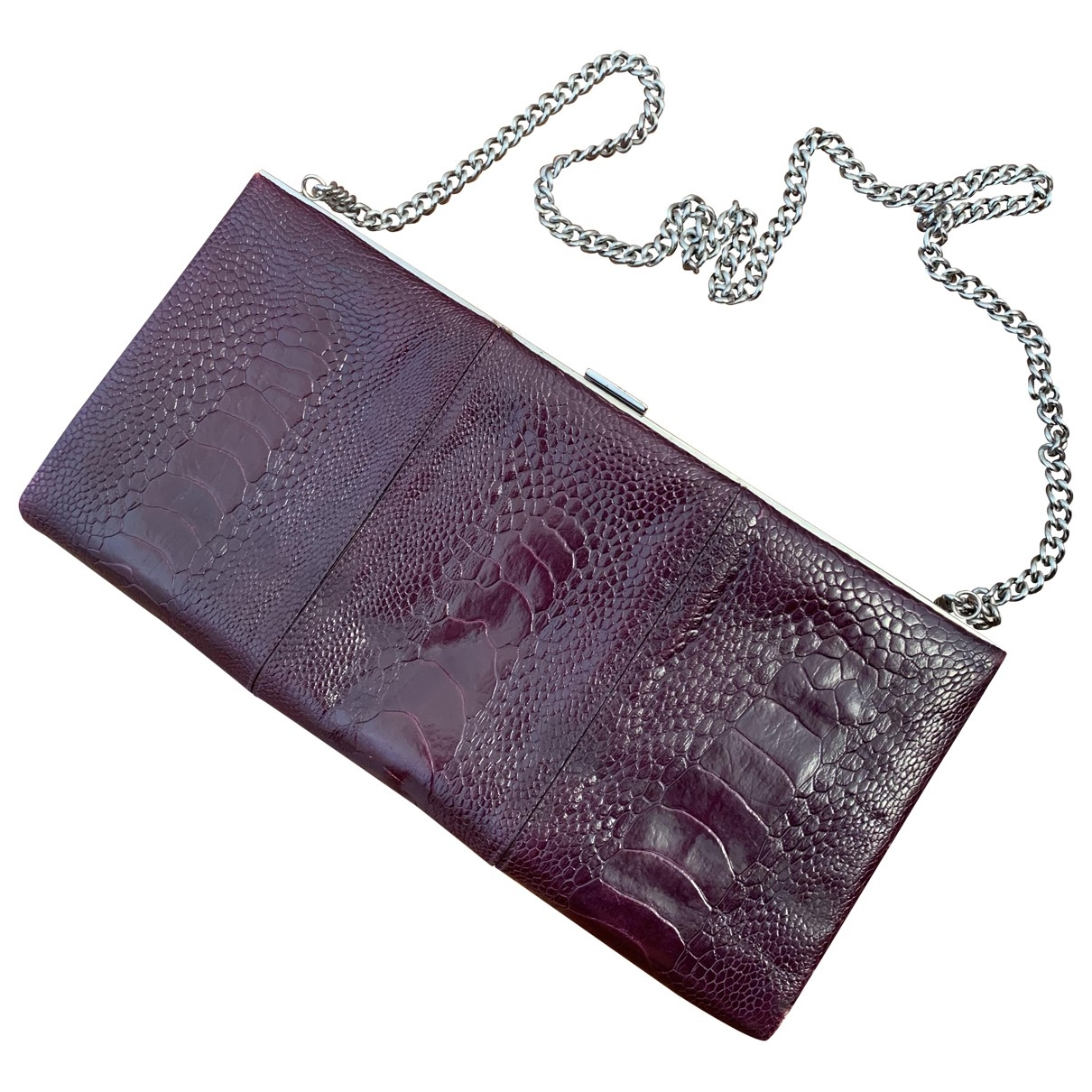 Christian Louboutin \N Burgundy Leather Clutch bag for Women \N