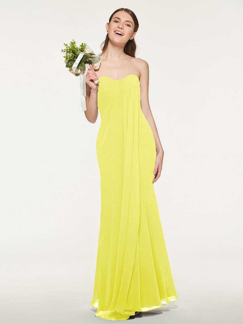 Ericdress Sweetheart Neckline Sheath Long Bridesmaid Dress