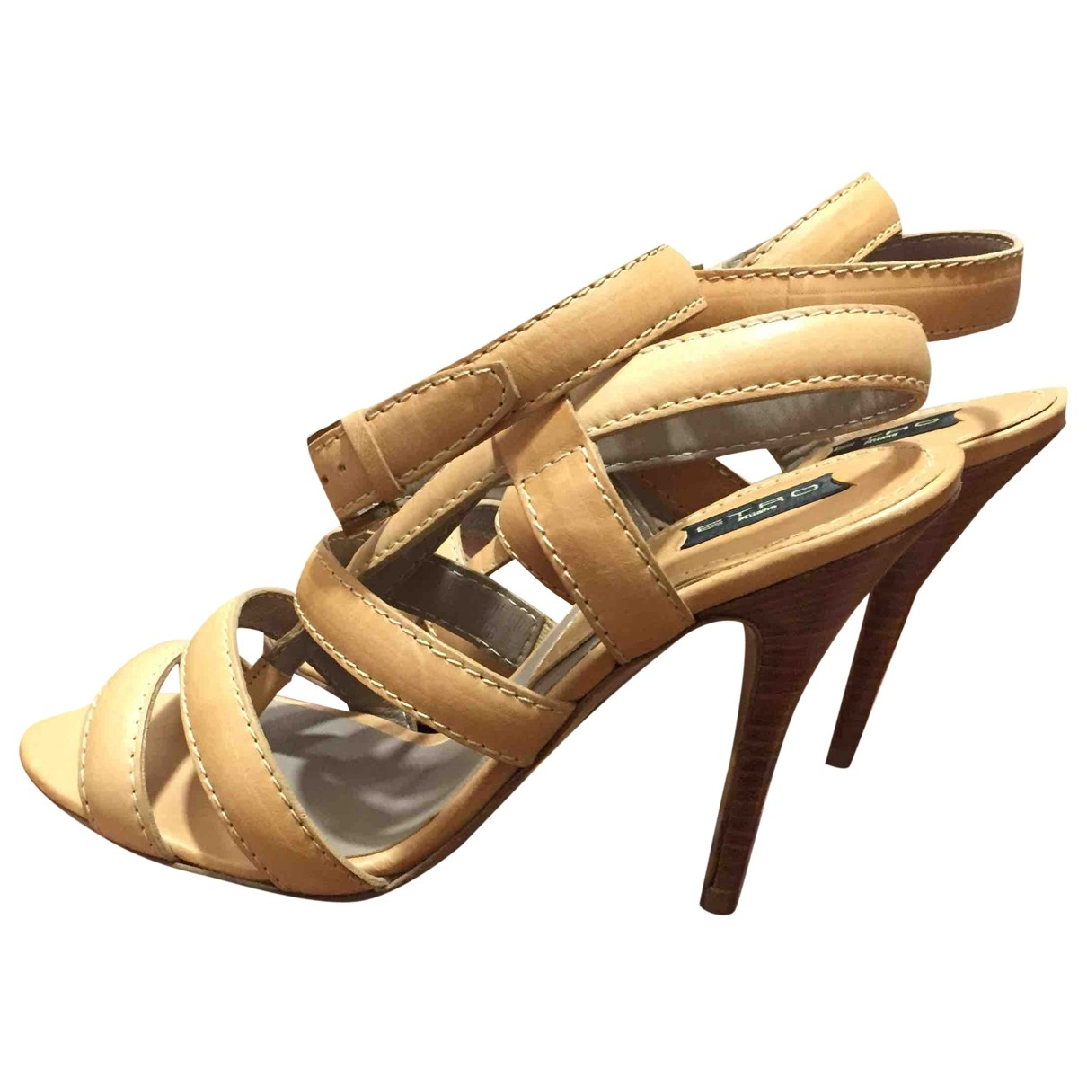 Etro \N Camel Leather Sandals for Women 38 EU