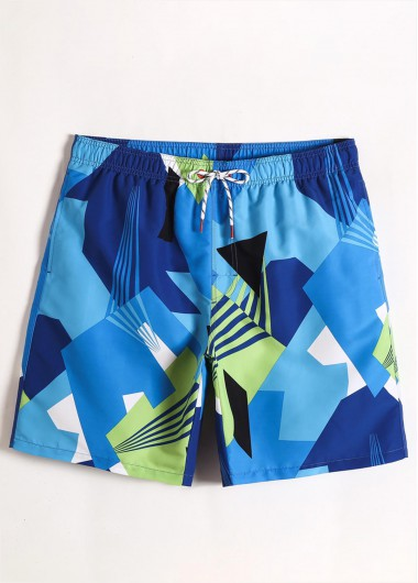 Quick Dry Bermuda Printed Men's Swimwear Trunk - 2XL
