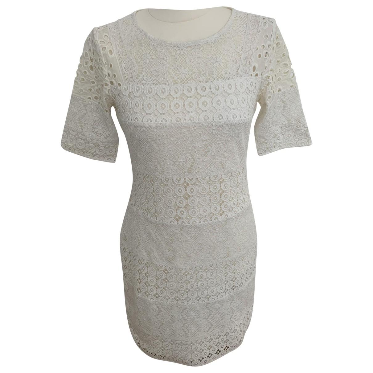 Reiss \N Kleid in  Weiss Baumwolle