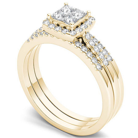Womens 1/6 CT. T.W. Genuine White Diamond 10K Gold Engagement Ring, 7 1/2 , Multiple Colors