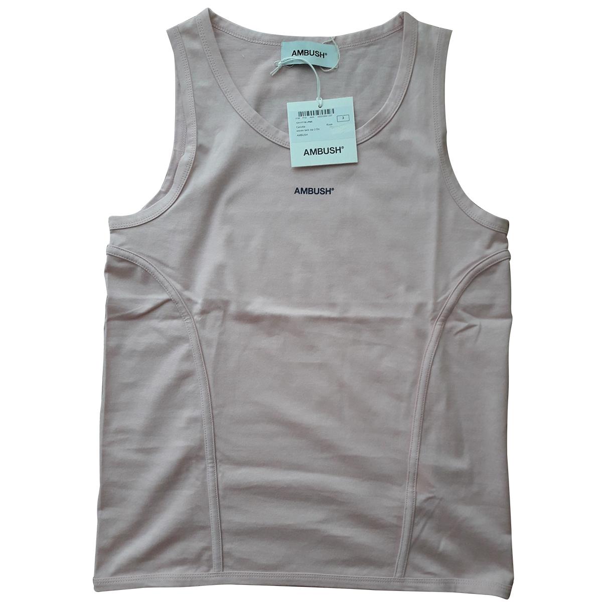 Ambush - Top   pour femme en coton - rose