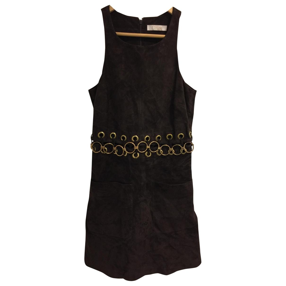 Chloe \N Kleid in  Braun Baumwolle