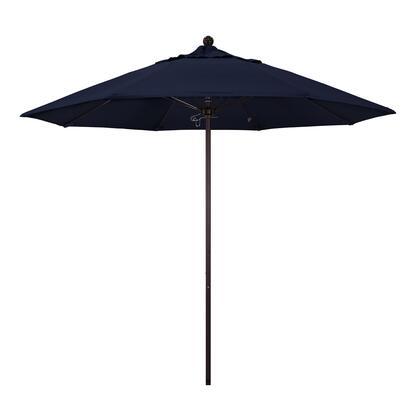 ALTO908117-F09 9' Venture Series Commercial Patio Umbrella With Bronze Aluminum Pole Fiberglass Ribs Push Lift With Olefin Navy