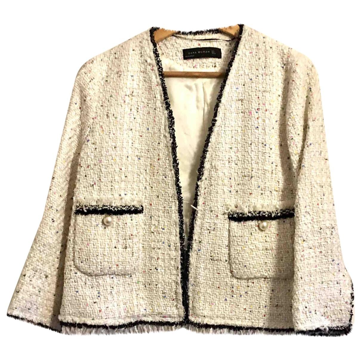Zara \N Ecru Glitter jacket for Women L International