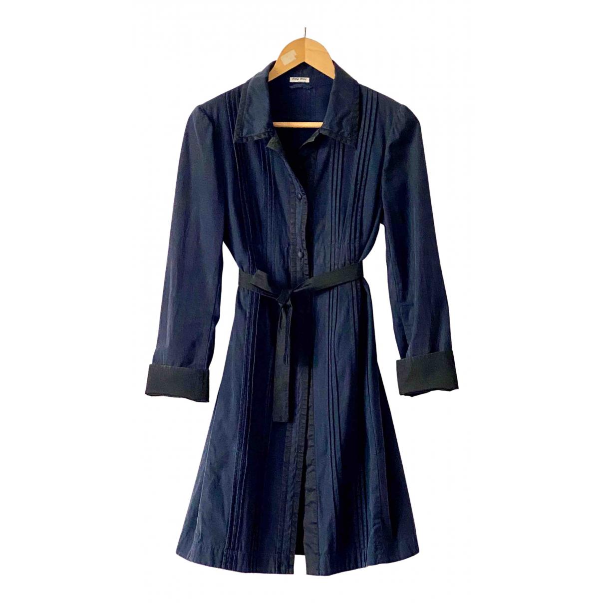 Miu Miu - Robe   pour femme en denim - bleu
