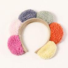 Color Block Fluffy Hair Hoop