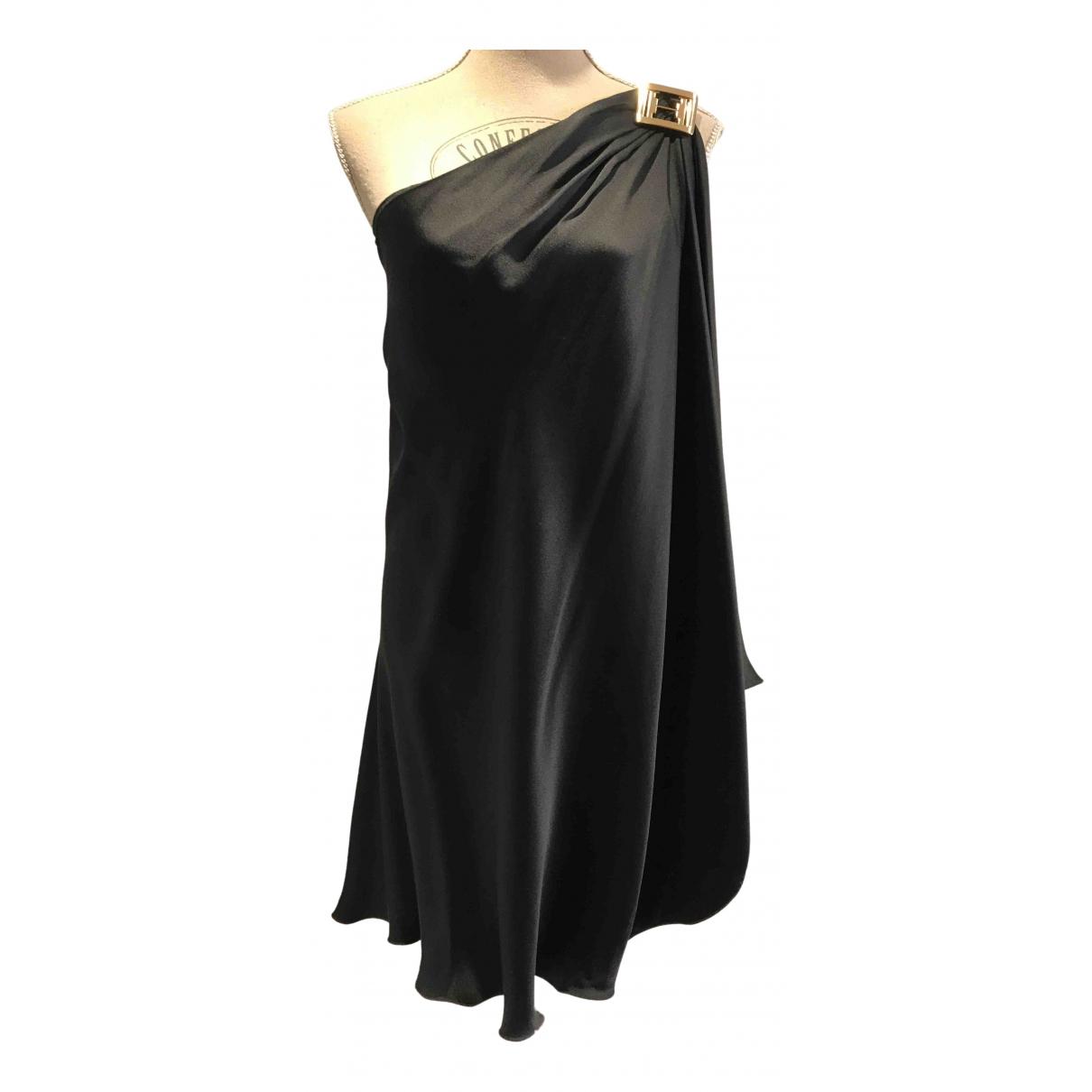 Halston Heritage \N Kleid in  Schwarz Seide