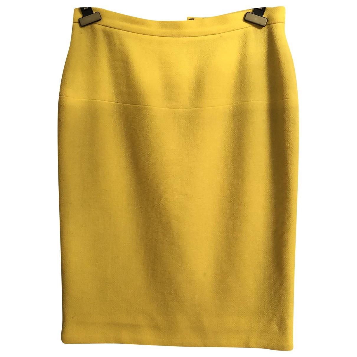 Chanel \N Rocke in  Gelb Seide