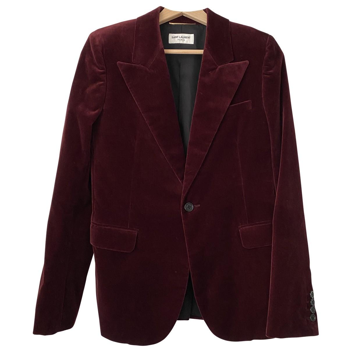 Saint Laurent \N Burgundy Velvet jacket for Women 36 FR