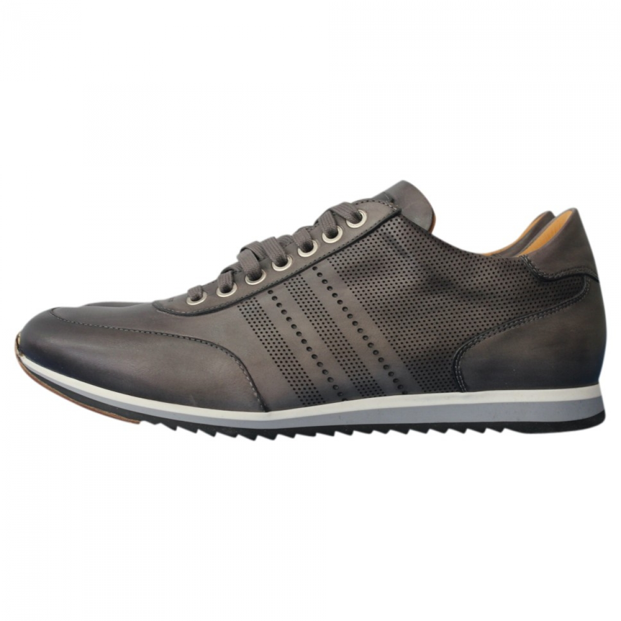 Magnanni \N Anthracite Leather Trainers for Men 10.5 US