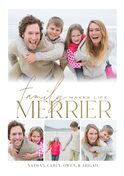 Christmas Photo Cards 5x7 Cards, Premium Cardstock 120lb, Card & Stationery -Family Collage