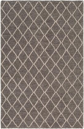 Whistler WSR-2301 2' x 3' Rectangle Modern Rugs in Charcoal