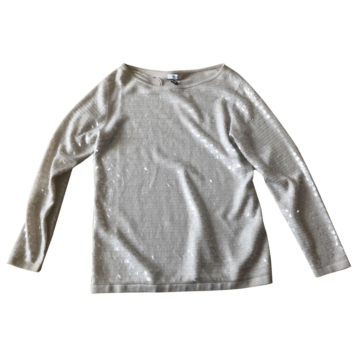 Reiss - Pull   pour femme en laine - beige