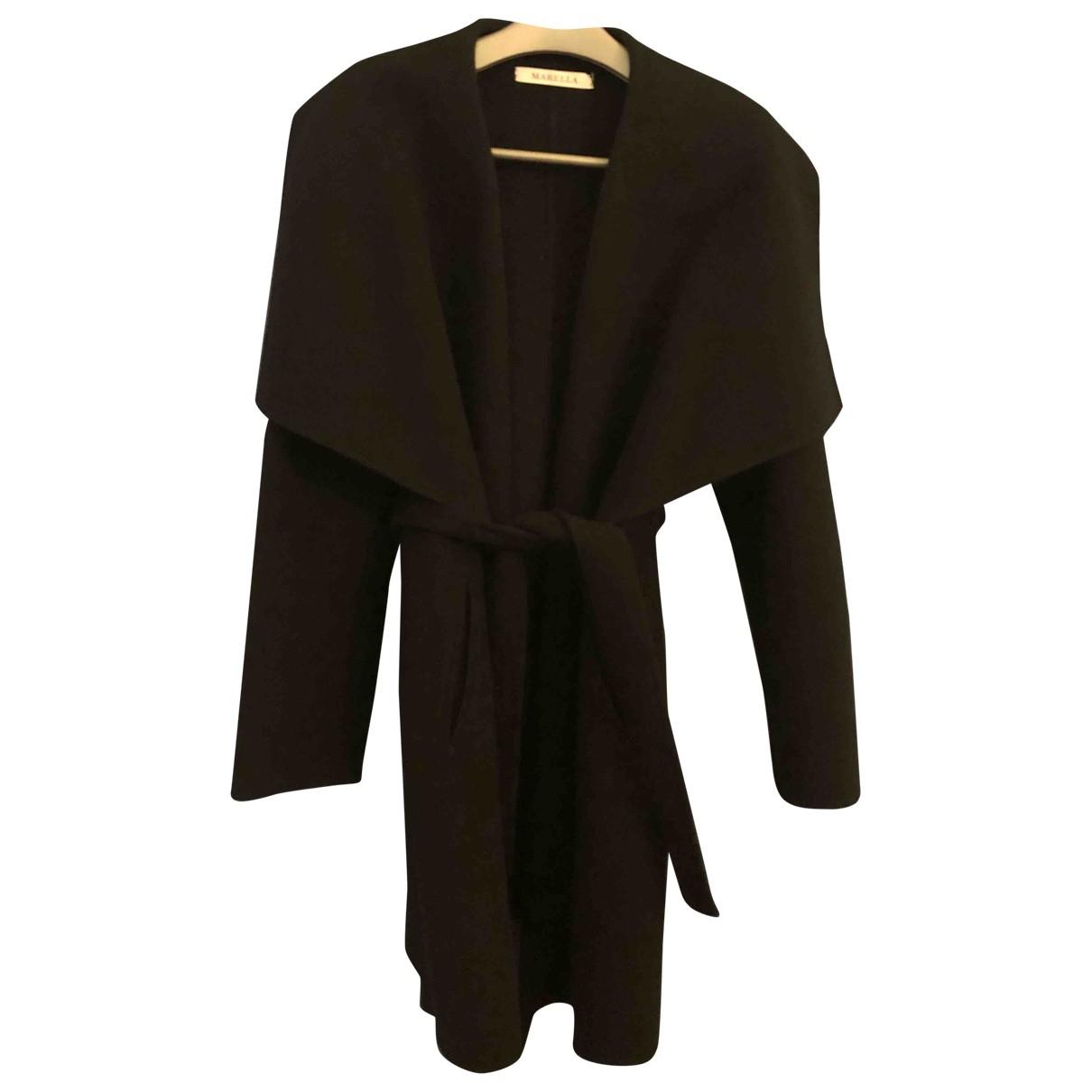 Marella - Manteau   pour femme en laine - noir