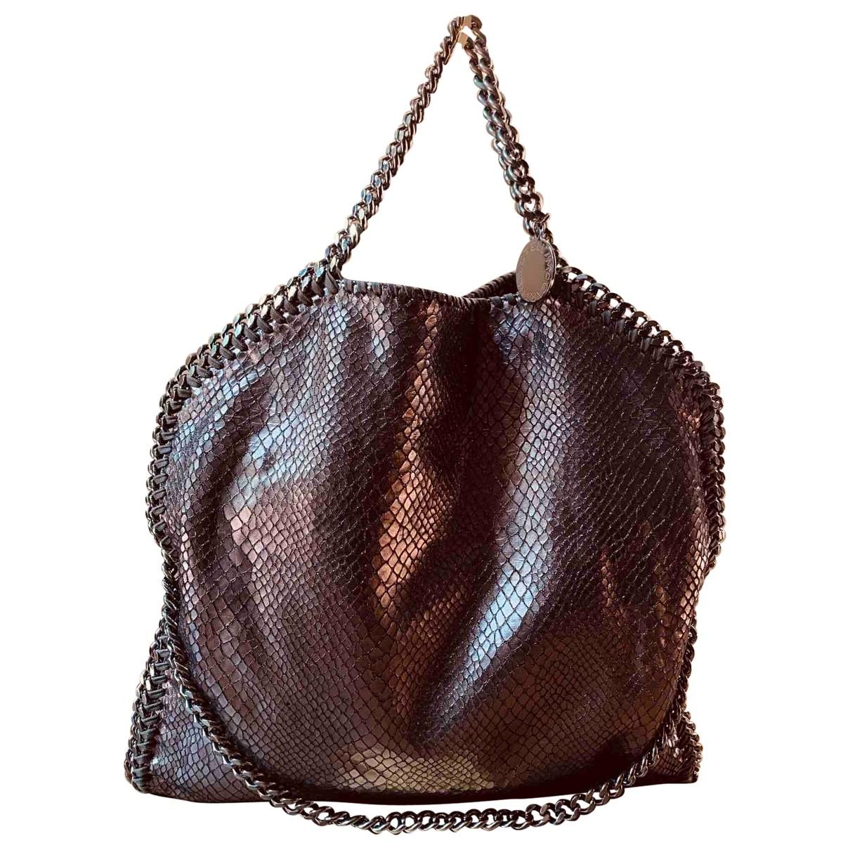 Stella Mccartney Falabella Handtasche in  Metallic Leinen