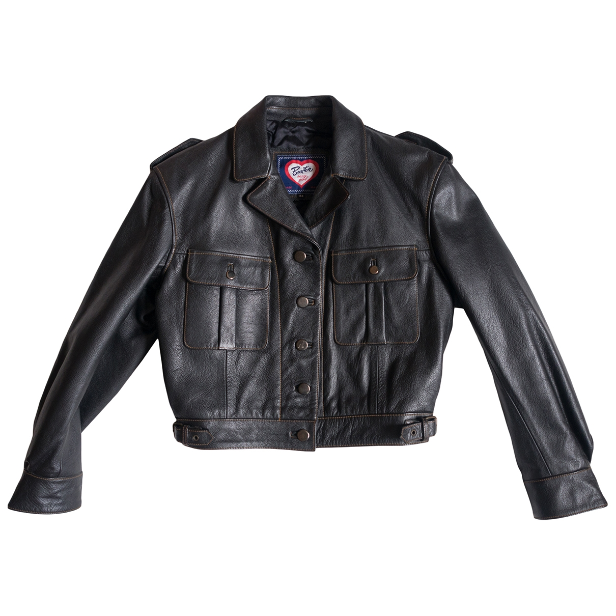 Non Signé / Unsigned \N Black Leather Leather jacket for Women 44 IT