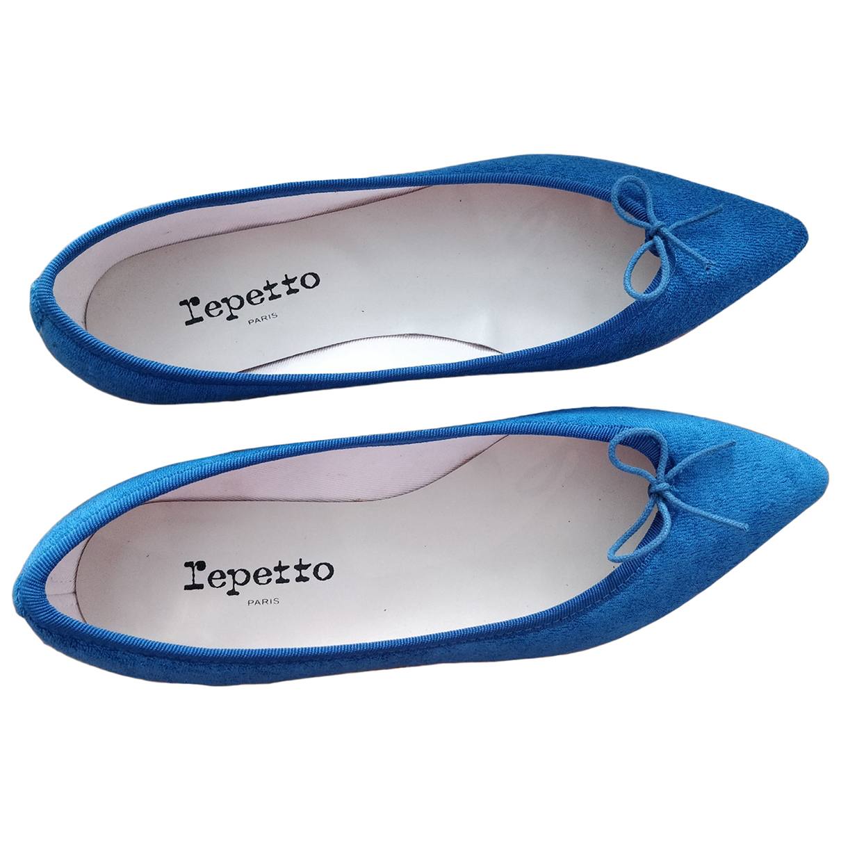 Repetto \N Blue Leather Ballet flats for Women 38 EU