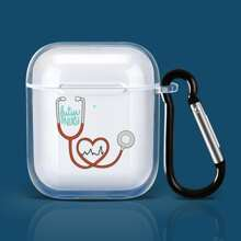 Stethoscope Pattern Clear Airpods Case