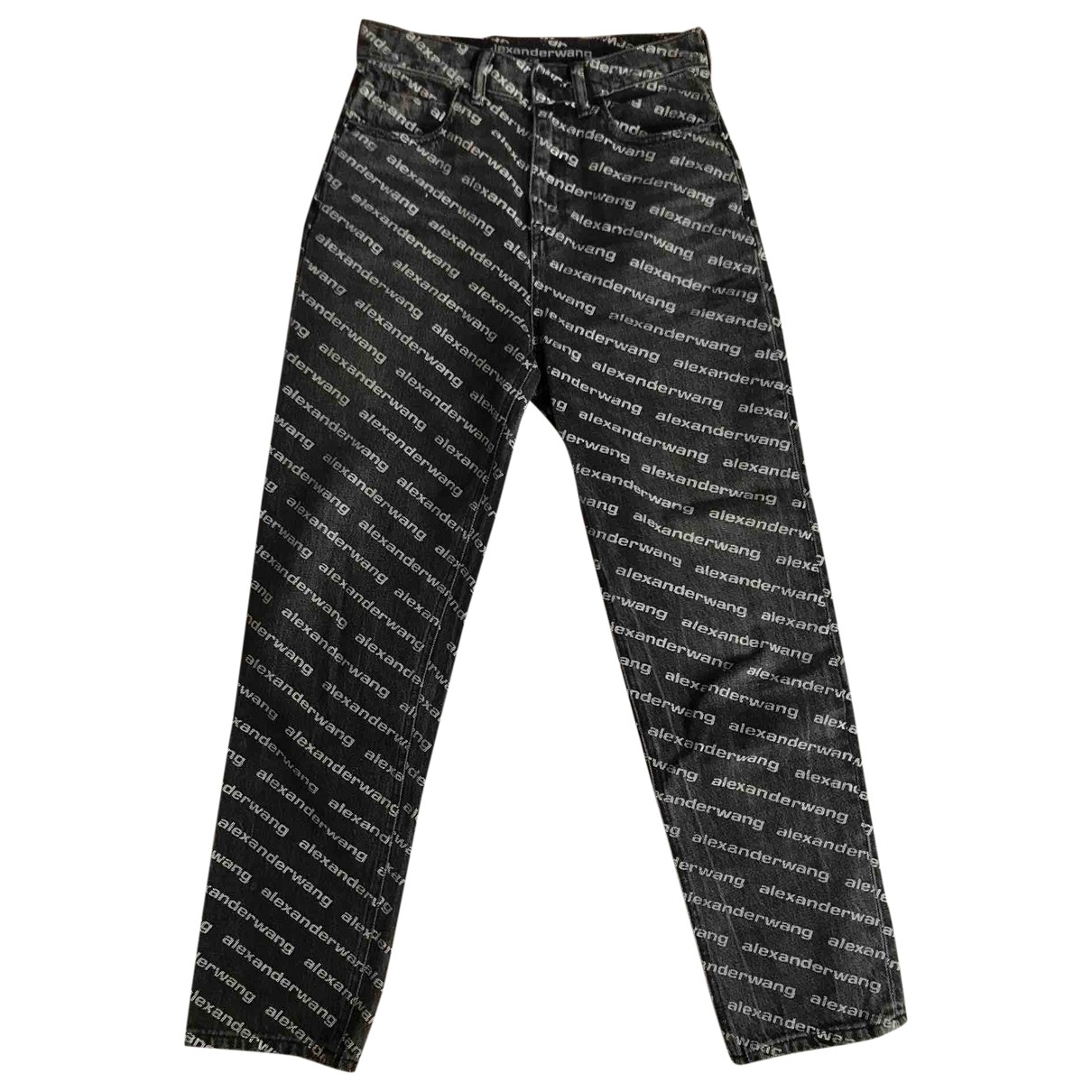 Alexander Wang \N Anthracite Denim - Jeans Trousers for Women XS International