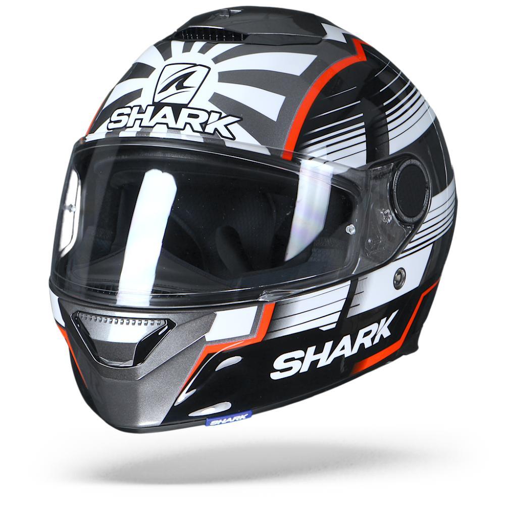 Shark Spartan 1.2 Zarco Malaysian GP AWR Antracita Blanco Rojo 2XL