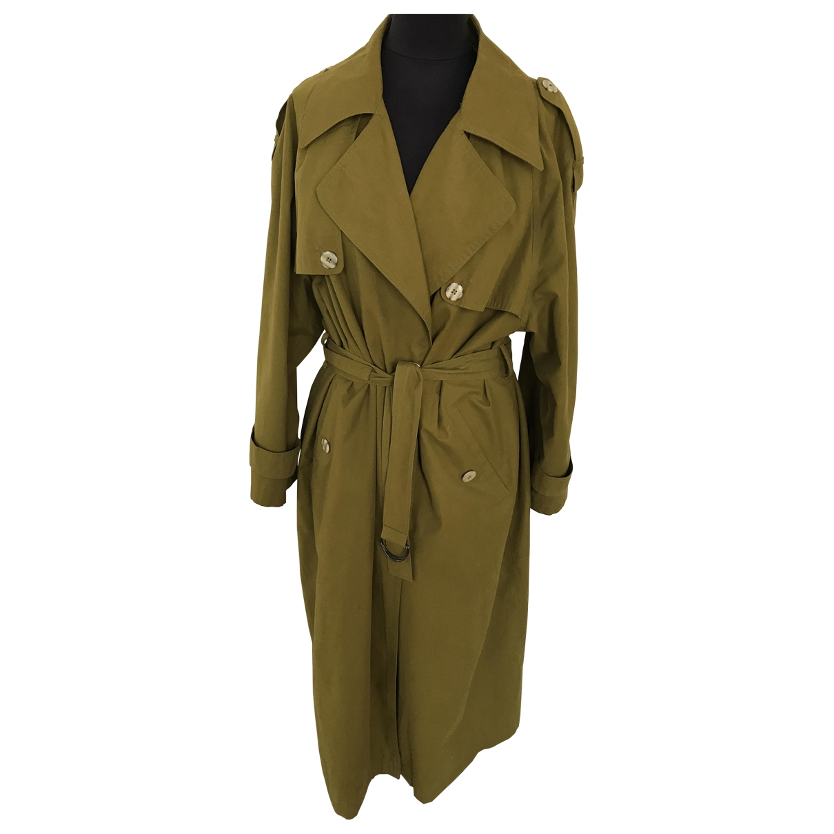 Non Signe / Unsigned \N Trench in  Khaki Polyester