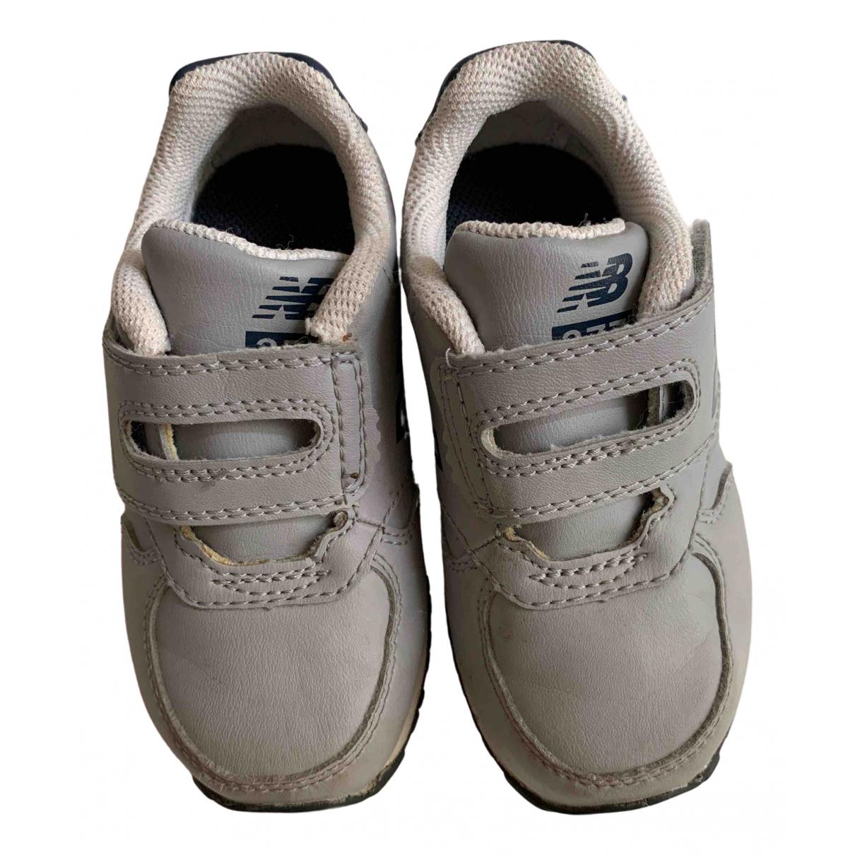 New Balance - Baskets   pour enfant en cuir - gris