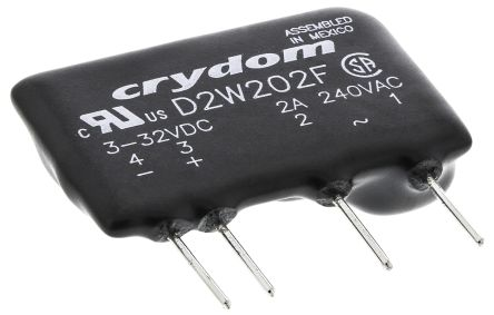 Sensata / Crydom 2 A Solid State Relay, Zero Cross, PCB Mount, Triac, 280 V Maximum Load
