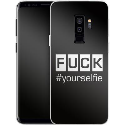 Samsung Galaxy S9 Plus Silikon Handyhuelle - Fck Yourselfie von Statements