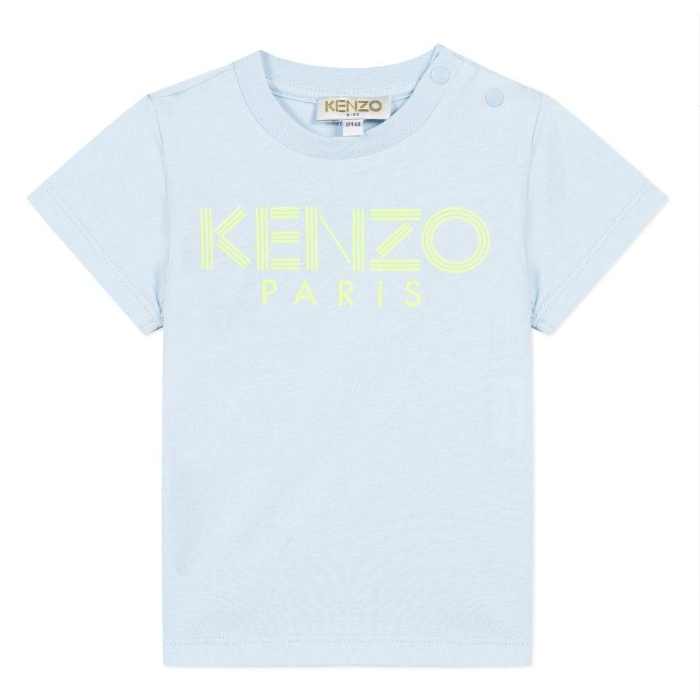 Kenzo Kids Paris Logo Baby T-Shirt Size: 1 YEARS, Colour: LIGHT BLUE